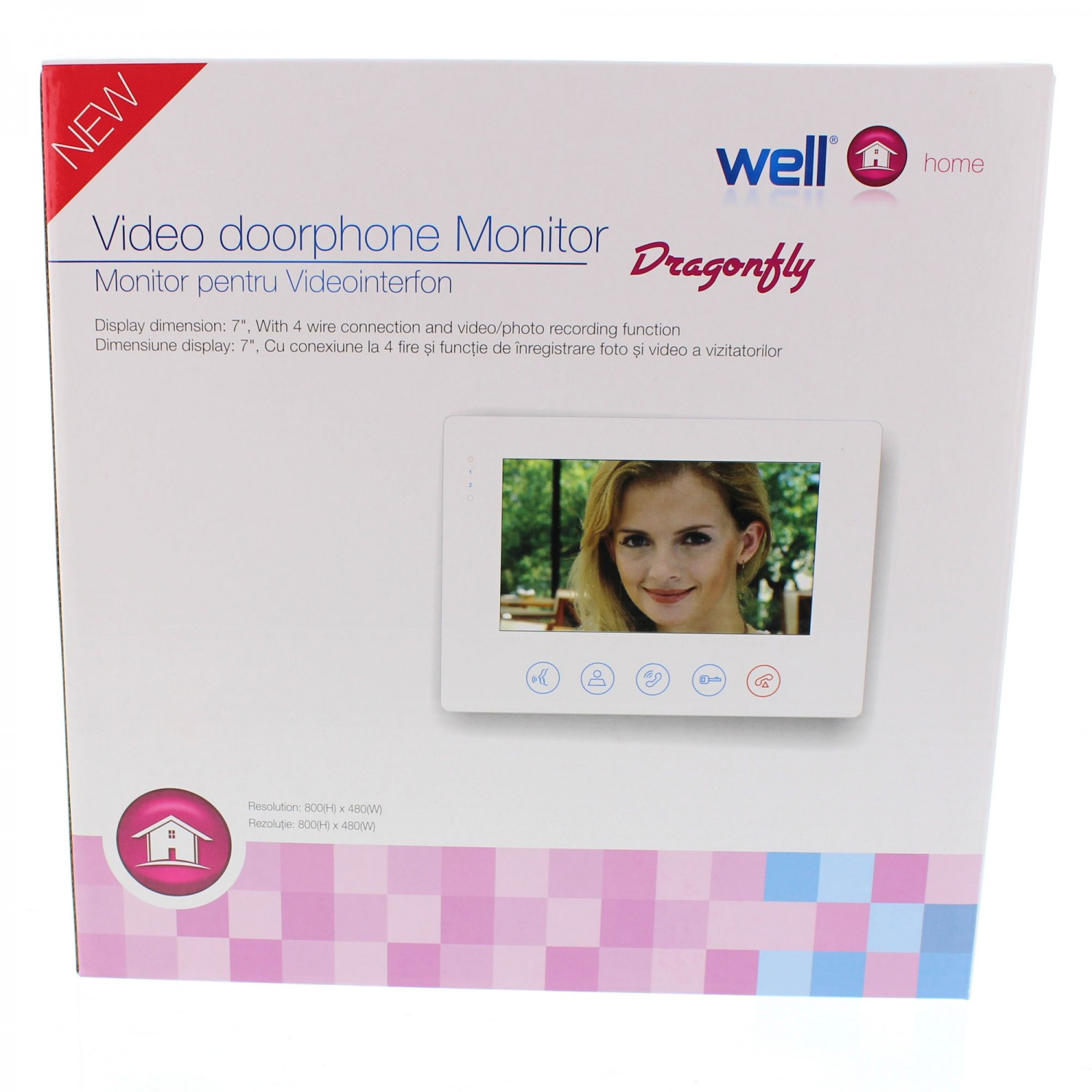 Monitor videointerfon 7 inch Well VDPM-DRAGONFLY-WL