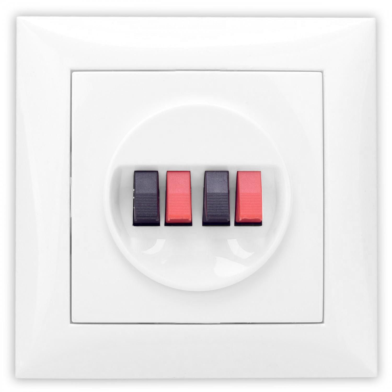 Priza audio Hoff, 4 cai, conector clips, rama inclusa