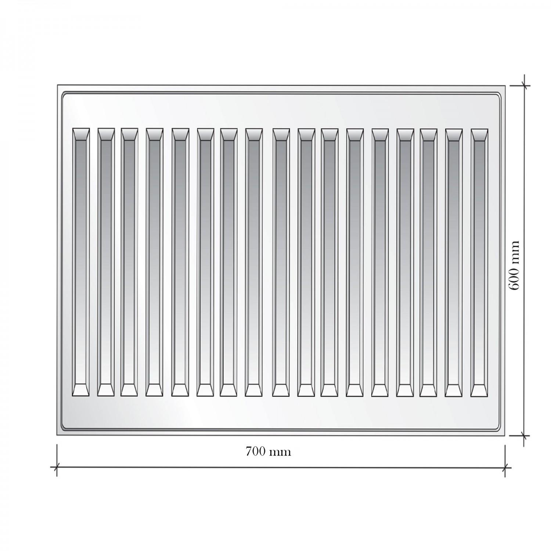 Radiator otel Korad 11K, 600 x 700 mm, fara accesorii