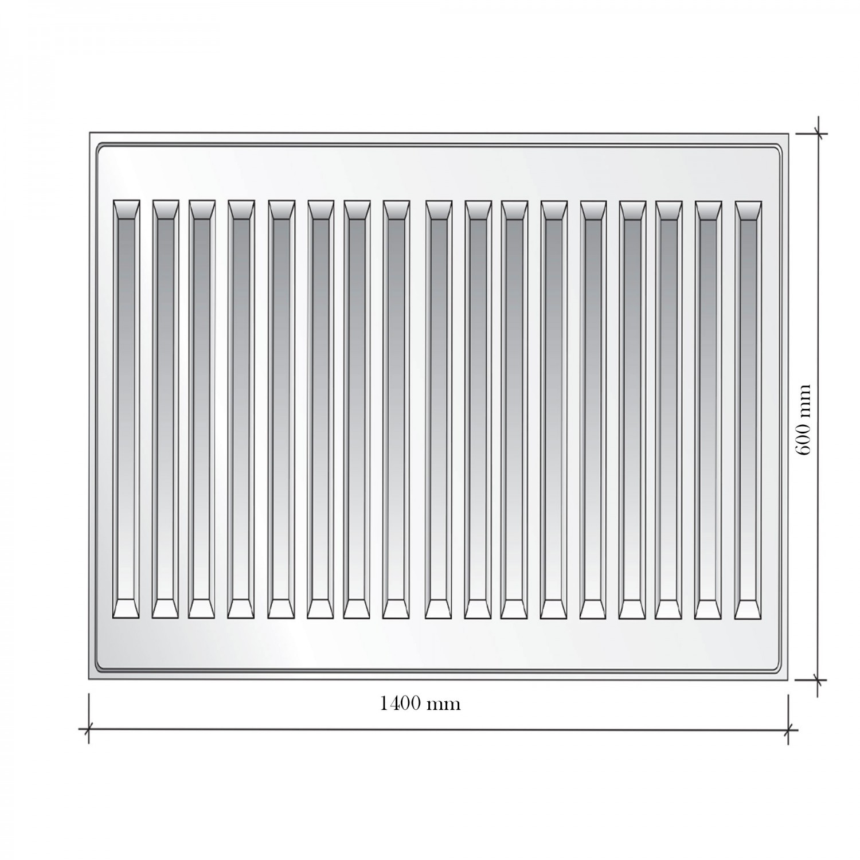 Radiator otel Korad 22K, 600 x 1400 mm, fara accesorii