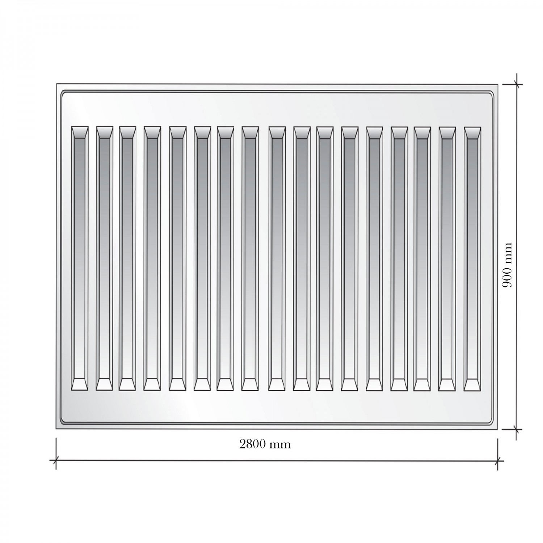 Radiator otel Korad 22K, 900 x 2800 mm, fara accesorii