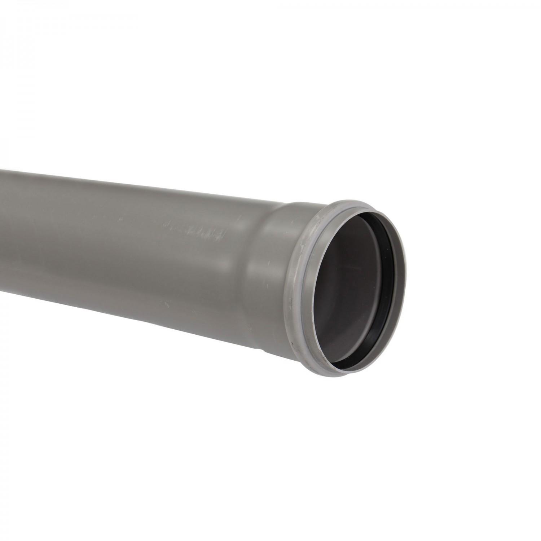 Teava PVC-U pentru canalizare interioara, cu inel, 110 x 2 mm, 4 m