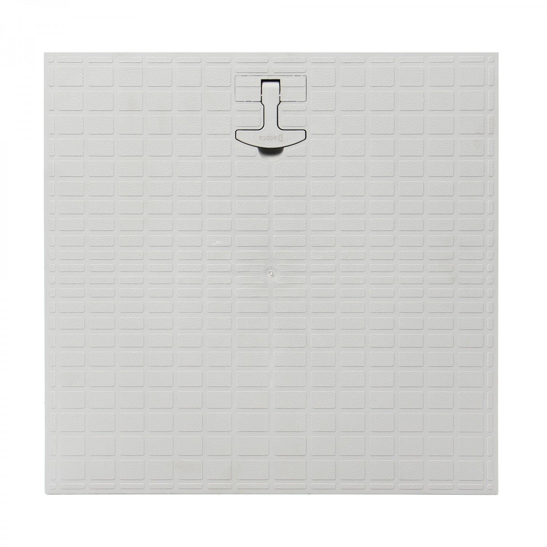 Capac camin monolitic cu maner, polipropilena, 550 x 550 mm