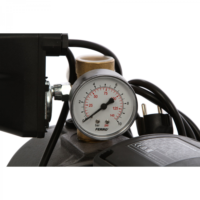 Hidrofor Grundfos JPA 4-54, cu pompa electrica centrifuga + rezervor 24 L + presostat + manometru + furtun flexibil + racord, 1130 W