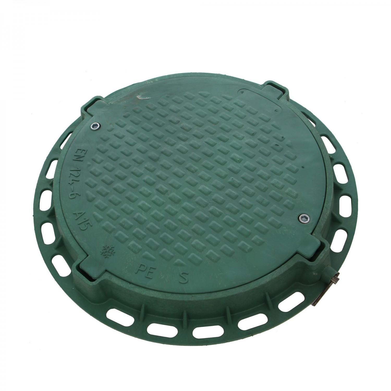 Capac verde rotund pentru gradina, A15, PP,  D 800 mm, cu inchizator