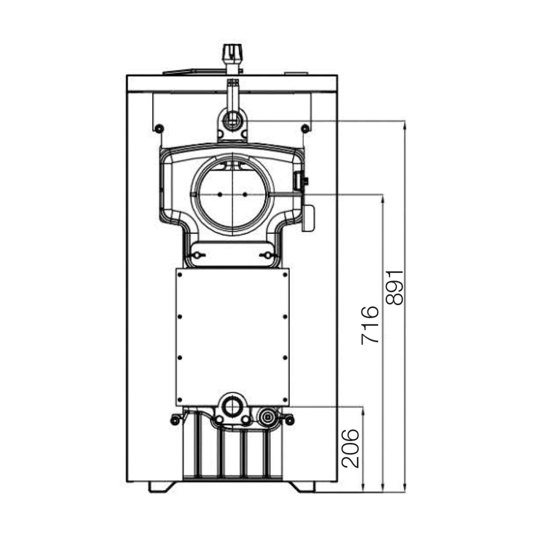 Cazan termic pe lemne, carbune Ferroli SLK7, cu ardere normala, din fonta, 43/48 kW, 7 elementi