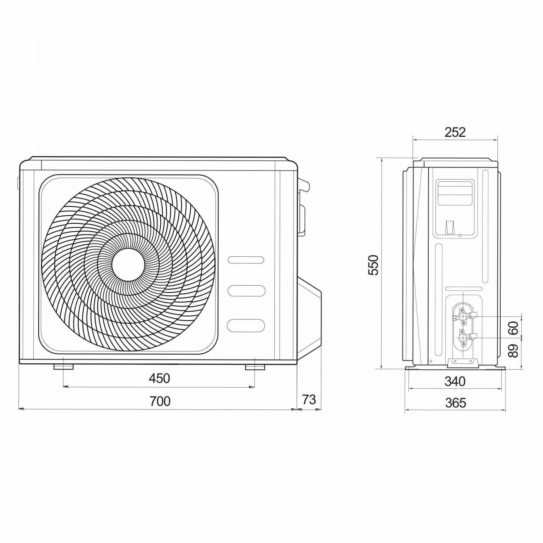 Aer conditionat inverter Ariston Prios 35, 12000 BTU
