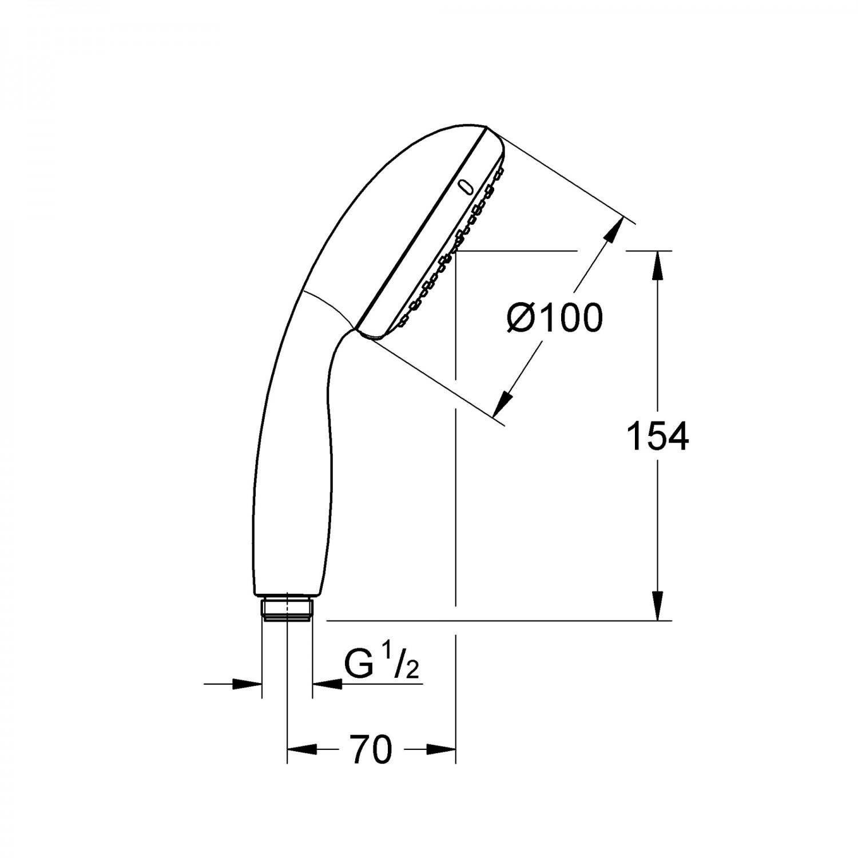dedeman para dus grohe vitalio start 100 i 27940000 crom 1 functie sistem anticalcar. Black Bedroom Furniture Sets. Home Design Ideas