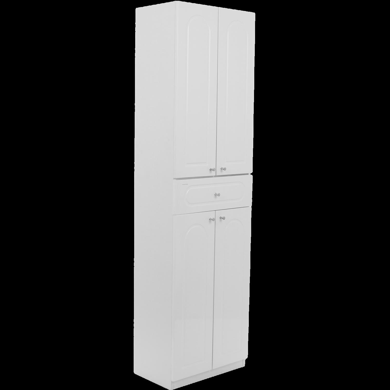 Dulap baie pe sol, 4 usi, cu sertar, Martplast, alb, deschidere pe stanga / dreapta, 170 x 48 cm