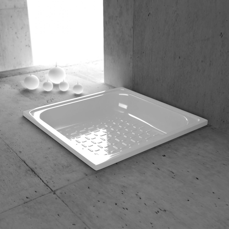 Cadita de dus patrata Smavit 2581101, tabla, alb, 80 x 80 x 16 cm