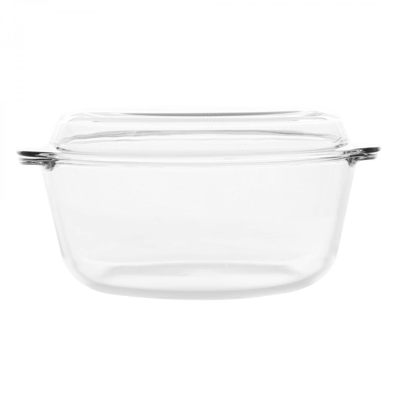 Bol cu capac pentru servirea mesei, sticla termorezistenta, transparent, 27 x 24 cm, 3000 ml