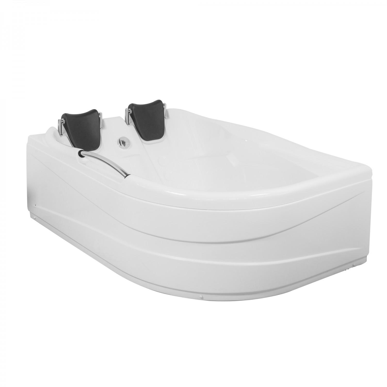 Cada baie asimetrica, varianta montaj pe stanga, Aisha, masca si suport incluse, 168 x 120