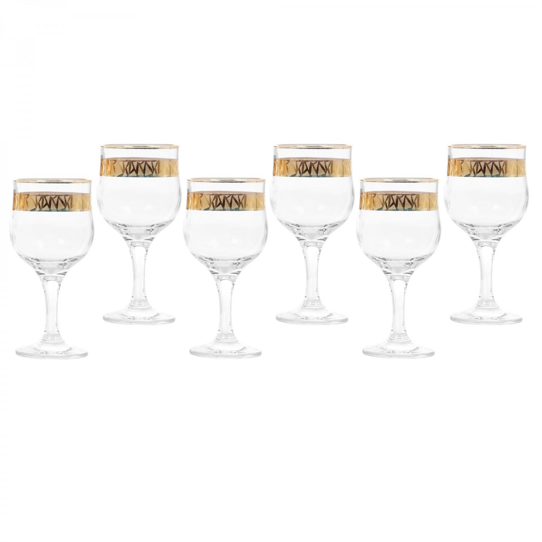 Pahar apa, Penta, auriu, din sticla, 315 ml, set 6 bucati