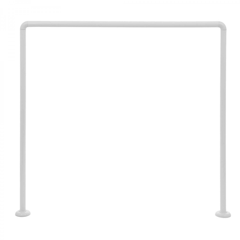 Bara perdea dus, metal, alb, 2251, 90 x 90 x 90 cm