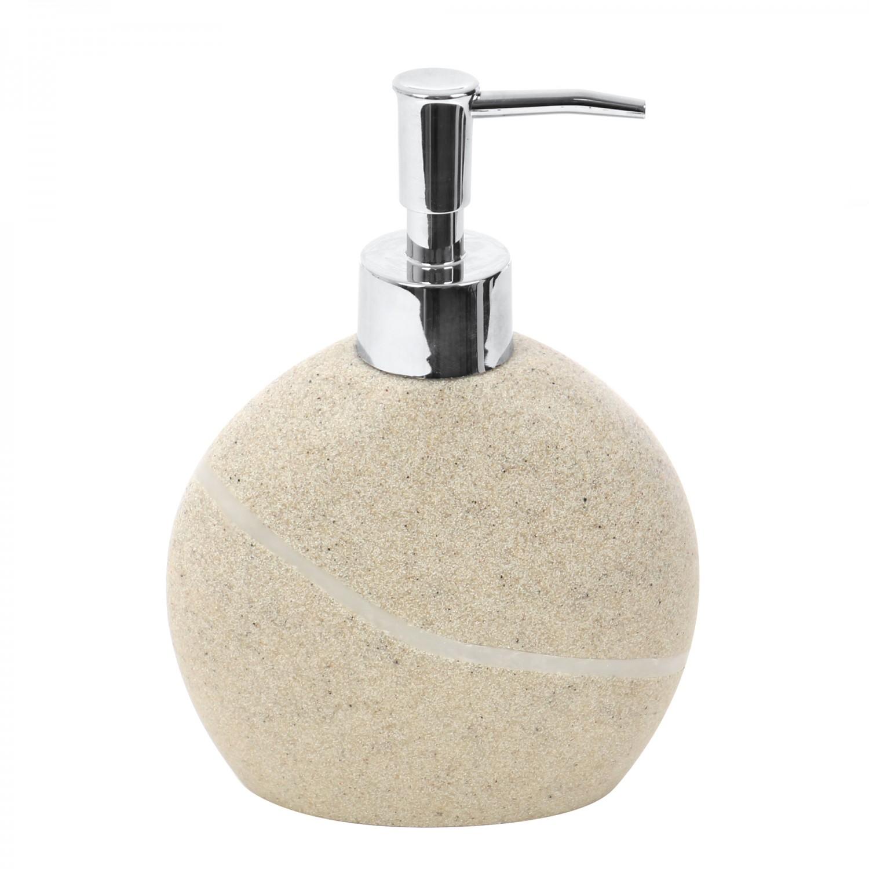 Dozator sapun lichid Kadda Stone BPO-0822A, crem, finisaj piatra