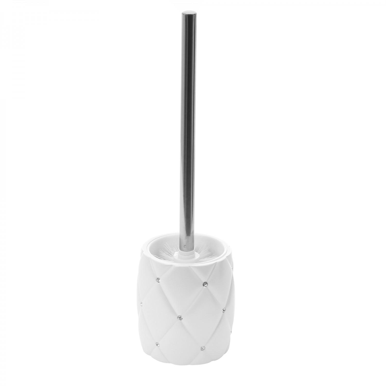 Perie WC Kadda Shiny BPO-1160E, polirasina, alb, 11.5 x 11.5 x 40 cm