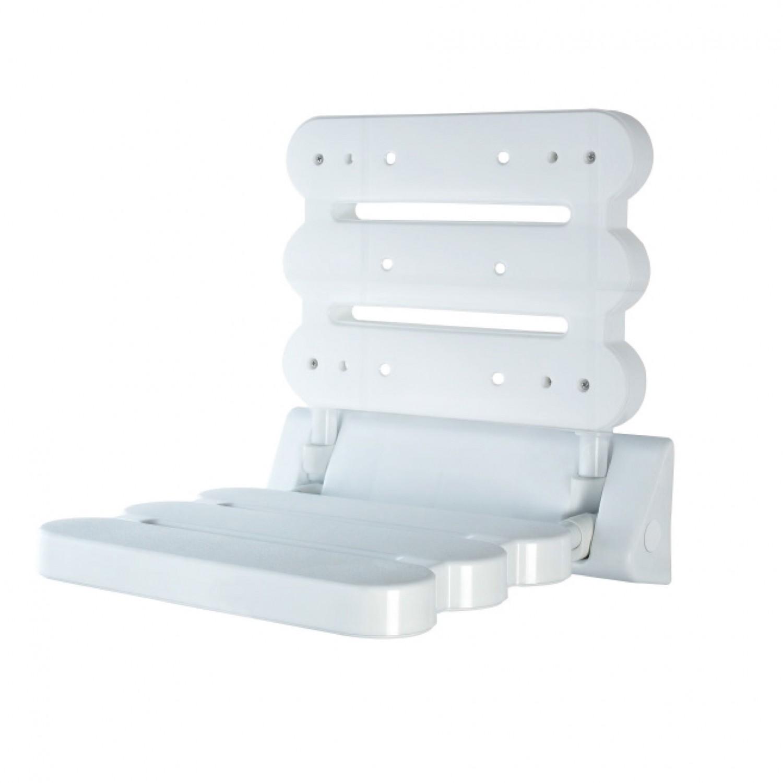Scaun pliabil pentru baie, Davo Pro Ridder A00200101, alb, 39 x 6 x 34 cm