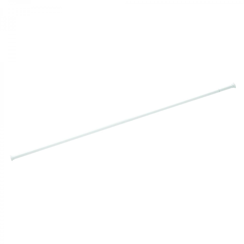 Bara perdea dus, telescopica / extensibila, aluminiu, alba, 75 / 215 cm