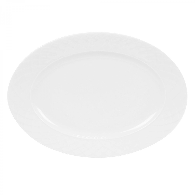 Platou Itea 8620001, forma ovala, portelan, alb, 30 cm