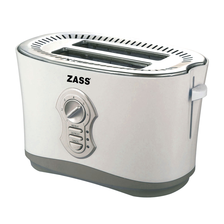 Prajitor de paine Zass ZST 05, 800 W, 2 felii, functie decongelare, functie reincalzire, 7 trepte putere, gri