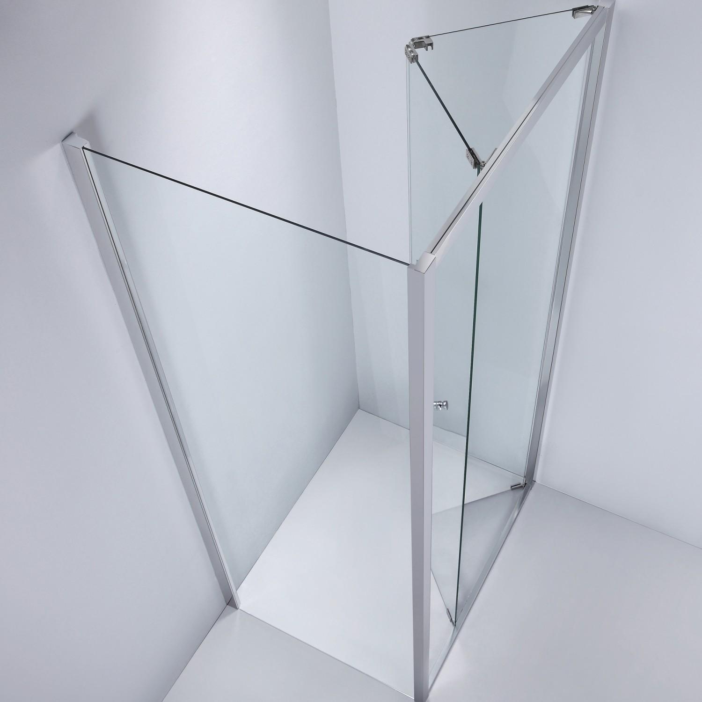 Perete fix pentru cabina dus, sticla, West SP90WST04, 90 x 190 cm