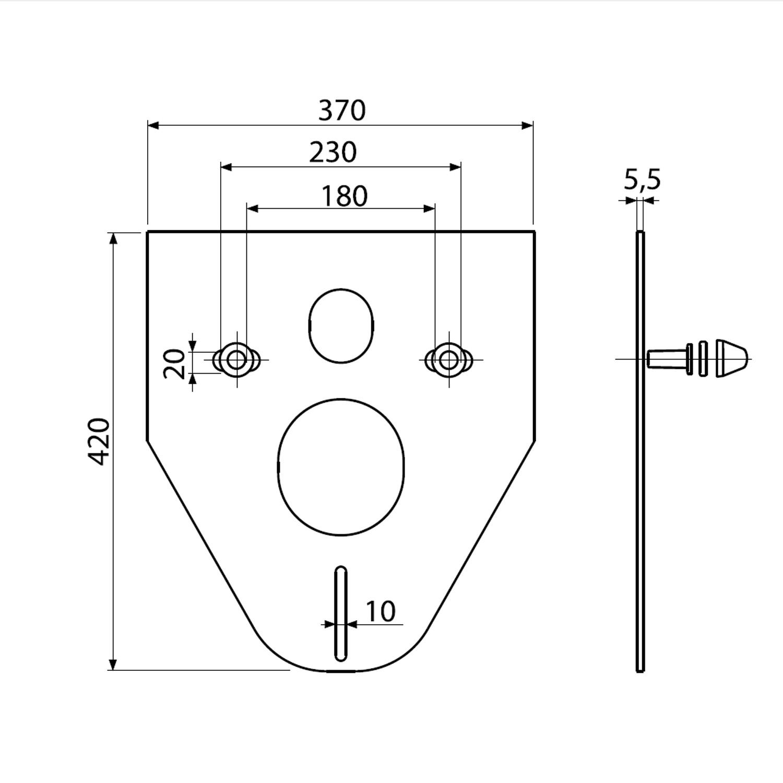 Garnitura fonica WC / bideu, Alcaplast