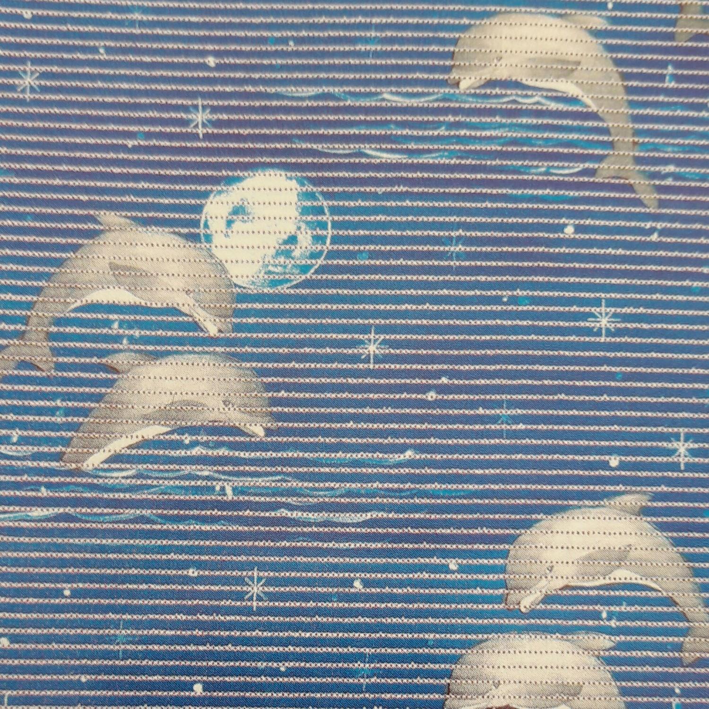 Covoras baie Aquamat, model delfin, alb / albastru, 65 cm