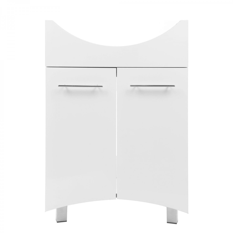 Masca baie pentru lavoar, Martplast Reflex, cu usi, alba, 56 x 34 x 82 cm