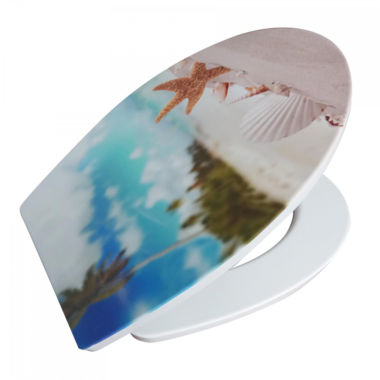 Capac WC duroplast, KT-T00PDS13, model marin, inchidere lenta, 370 x 445 mm
