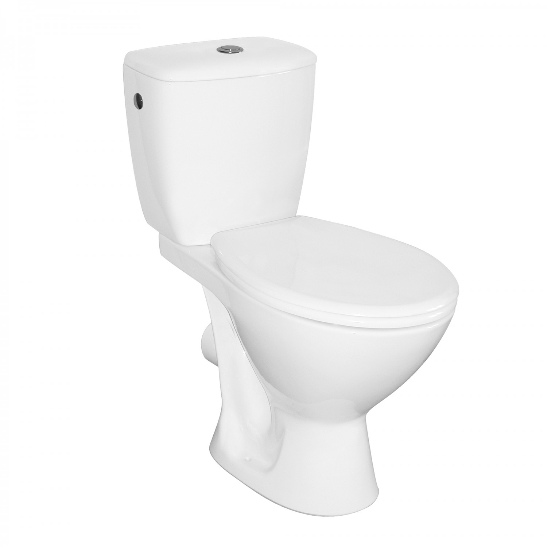 Set vas WC + rezervor + mecanism + capac Keops Eco, din ceramica, 36.5 x 75 x 64.5 cm