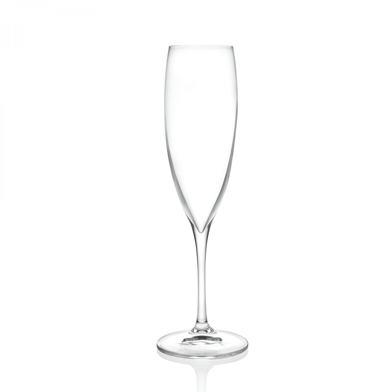 Pahar sampanie, RCR Luxion, din sticla cristalina, set 6 bucati
