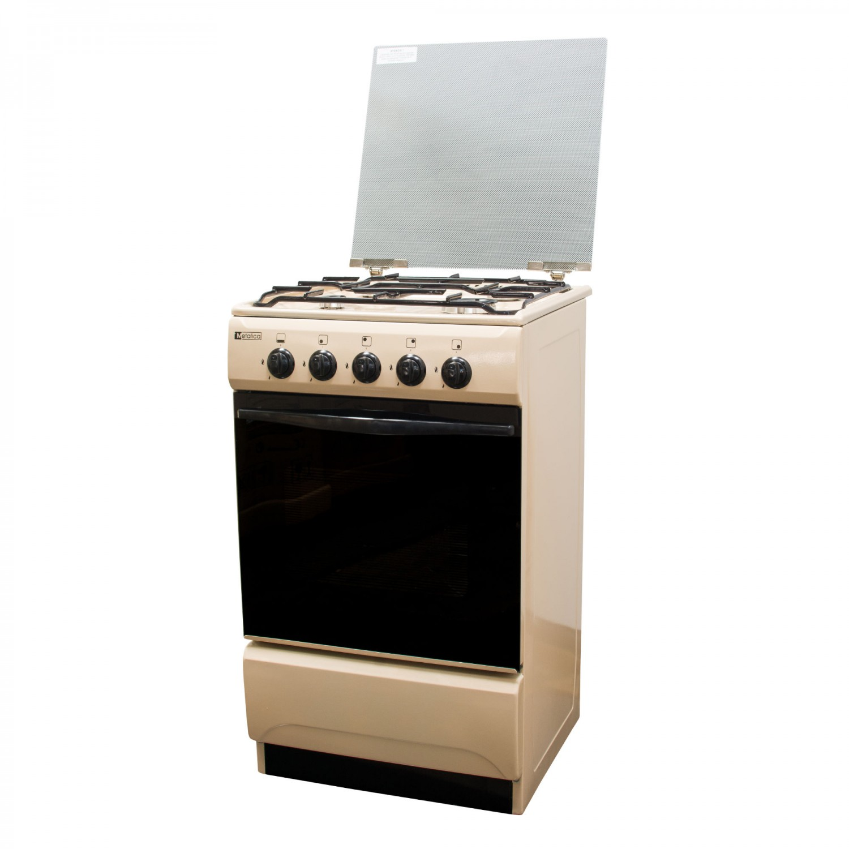 Aragaz pe gaz Metalica F4 1685 S5, 4 arzatoare, latime 50 cm, dispozitiv siguranta arzatoare si cuptor, kit de instalare, bej