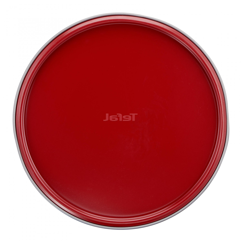 Tava rotunda pentru copt, Tefal Delibake Springform, J1641274, otel carbon, margine detasabila, rosu / gri, D 23 cm