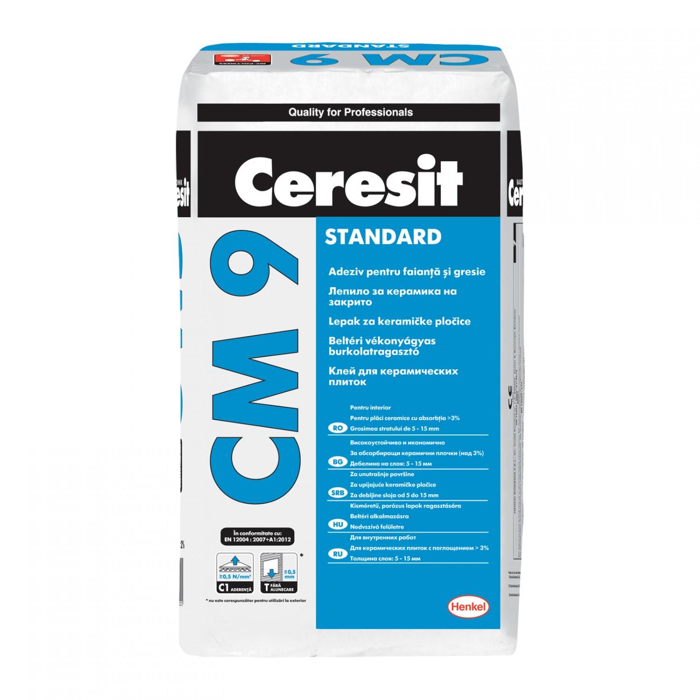 Adeziv gresie si faianta Ceresit CM9, pentru interior, 25 kg