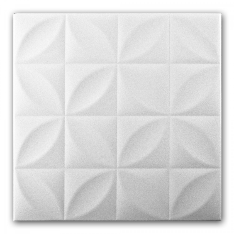 Tavan fals decorativ din polistiren VTM 0819 modern alb 50 x 50 x 0.4 cm