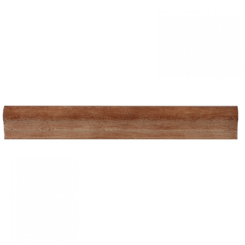 Bordura ceramica pentru treapta, TCE-508 Romance, maro, mata, dreptunghiulara, 5 x 36 cm