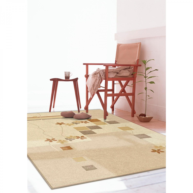 Covor living / dormitor Carpeta Delta 36181-43255 polipropilena heat-set dreptunghiular crem 200 x 300 cm