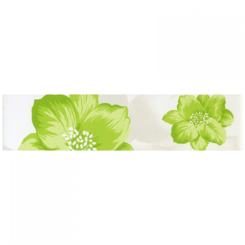Brau faianta Colors floral verde lucios 6 x 25.2 cm