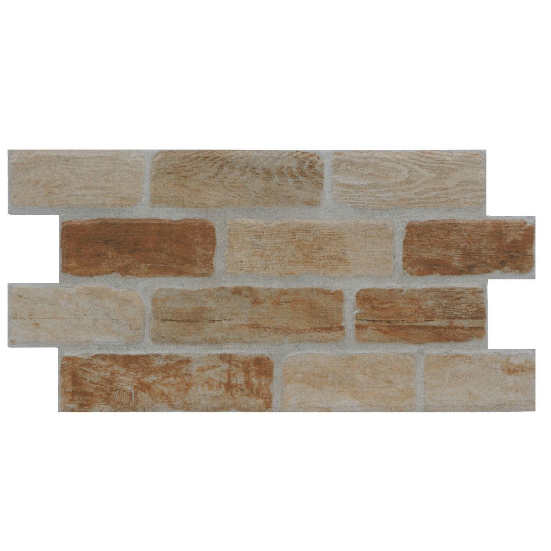 Gresie exterior / interior portelanata Madera bej, mata, imitatie piatra, 30 x 60 cm