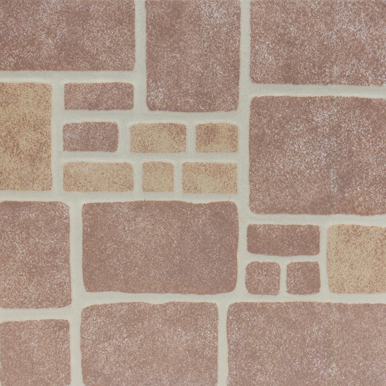 Gresie exterior / interior portelanata Terranova 6035-0227, maro, mata, imitatie piatra, 33 x 33 cm