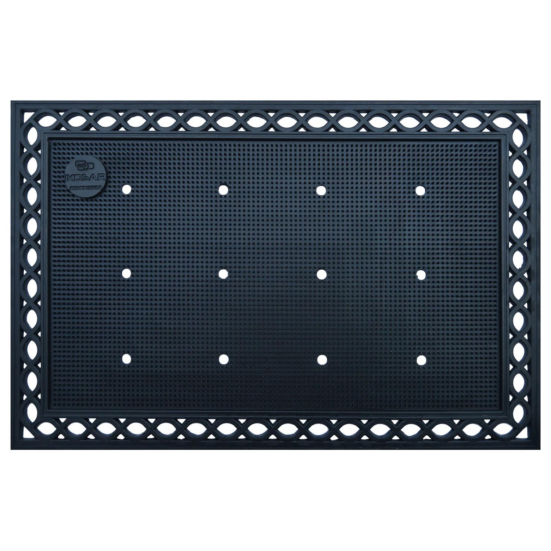 Covor intrare exterior Premium House , cauciuc, negru, dreptunghiular, 90 x 60 cm