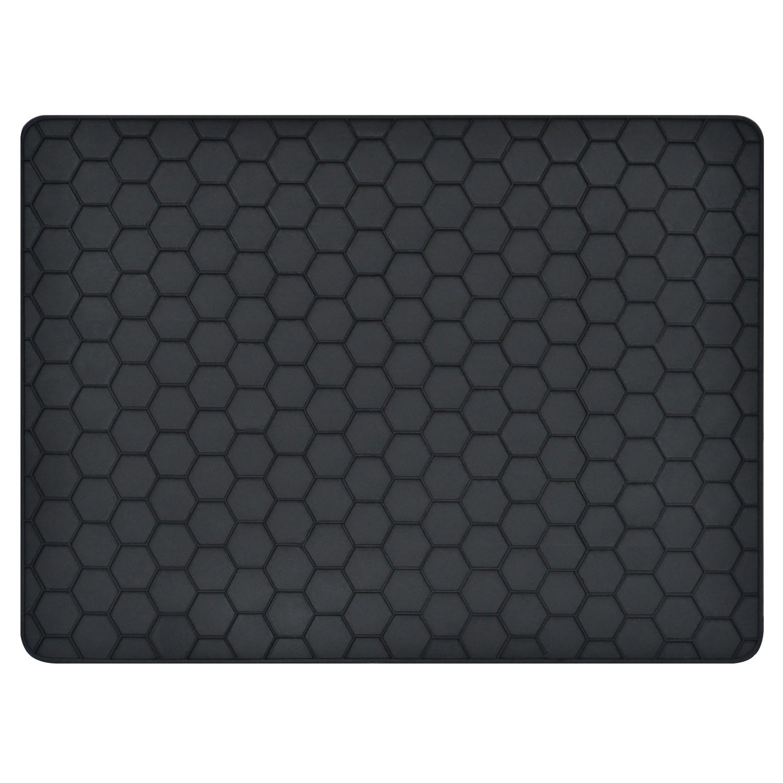 Covor intrare exterior Hexagon , cauciuc, negru, dreptunghiular, 50 x 36 cm