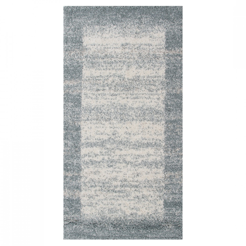 Covor living / dormitor McThree Softn 6897 H313 polipropilena frize, heat-set dreptunghiular albastru 60 x 110 cm