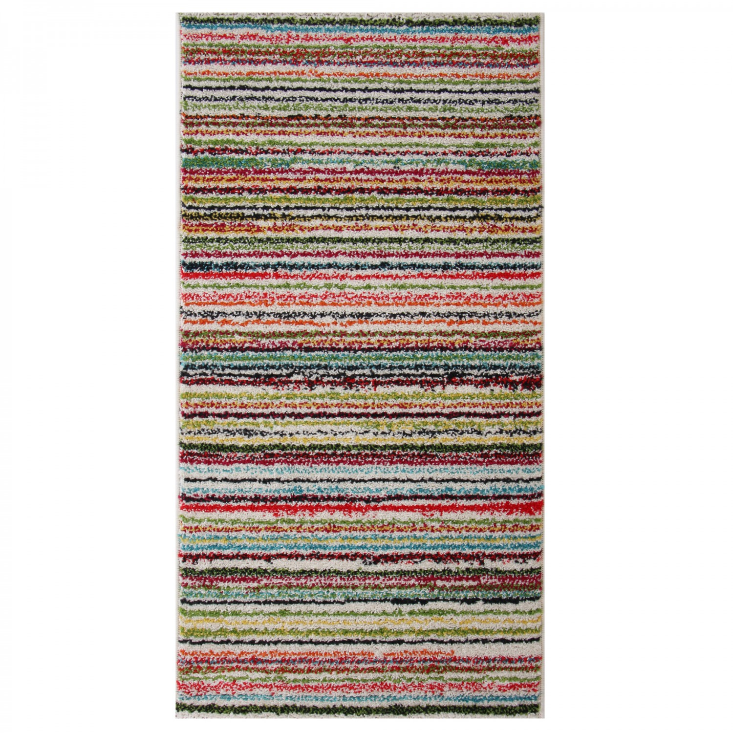 Covor living / dormitor McThree Swing 6251 3P01 polipropilena frize, heat-set dreptunghiular multicolor 60 x 110 cm