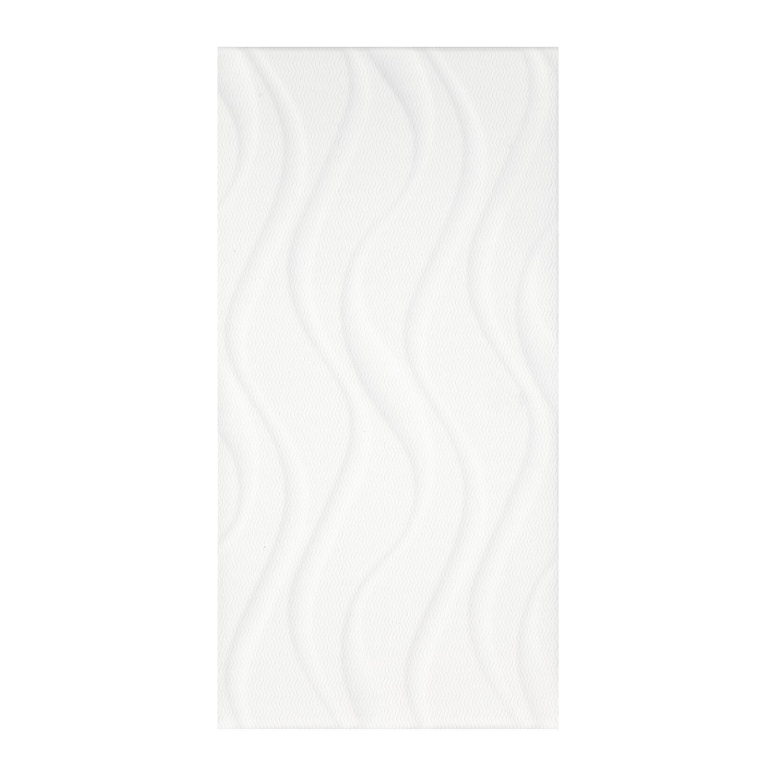 Faianta baie / bucatarie 59251 Elektra White Waves lucioasa 25 x 50 cm