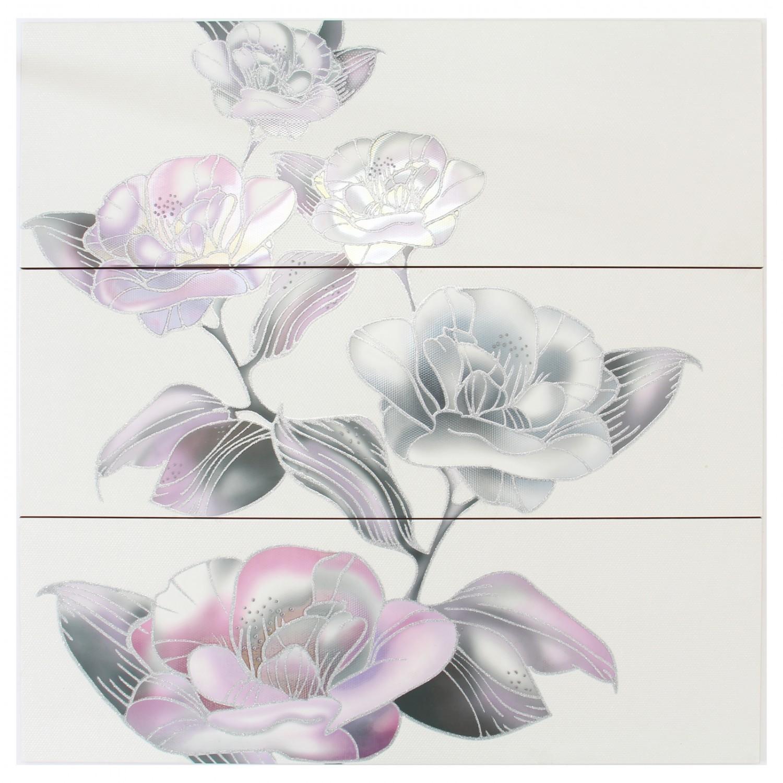 Decor faianta baie / bucatarie Oxford Aranjues white (3) lucios 25 x 75 cm
