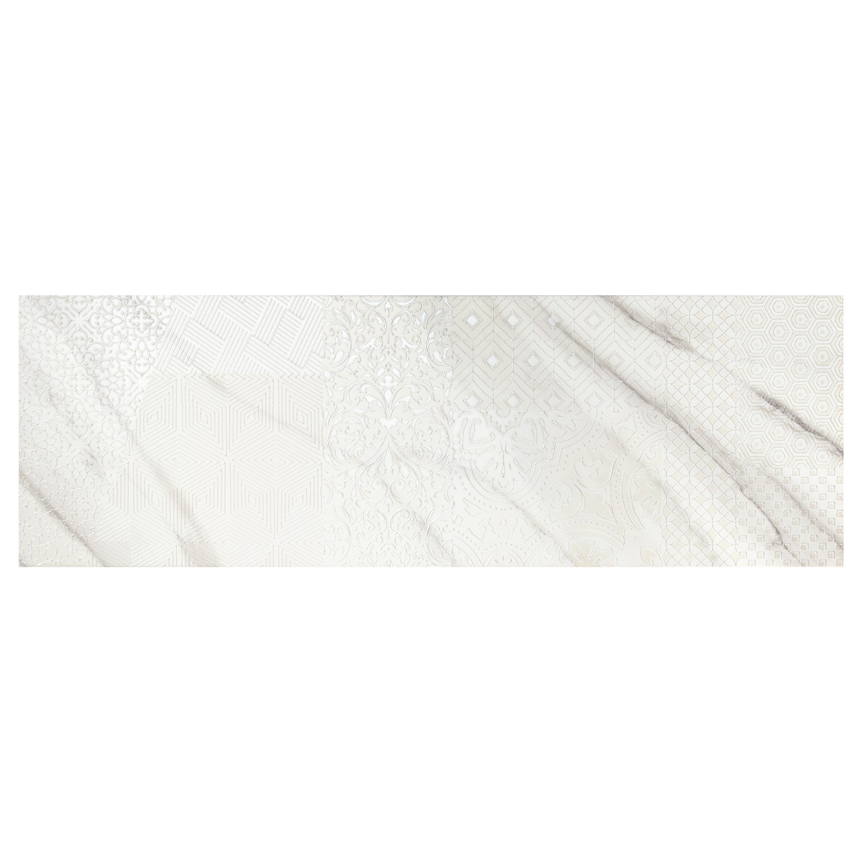 Decor faianta baie / bucatarie Atlas A alb, lucios, 28.5 x 85.5 cm