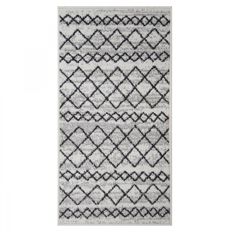 Covor living / dormitor Oriental Weavers Lotto W 86/HR5 polipropilena frize dreptunghiular crem 60 x 110 cm