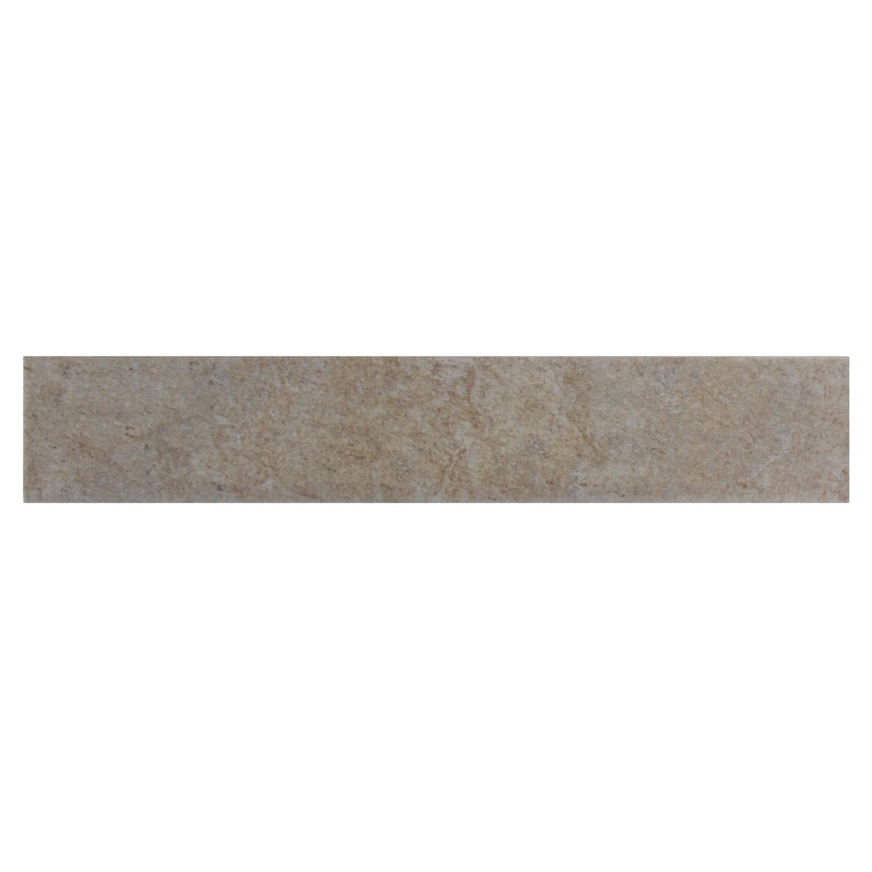 Plinta gresie ceramica Abaye, mata, bej, 8 x 45 cm