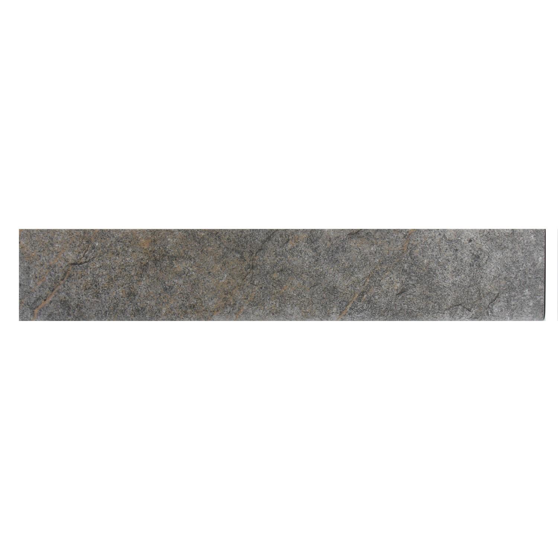 Plinta gresie ceramica Caucaso, mata, gri, 8 x 45 cm